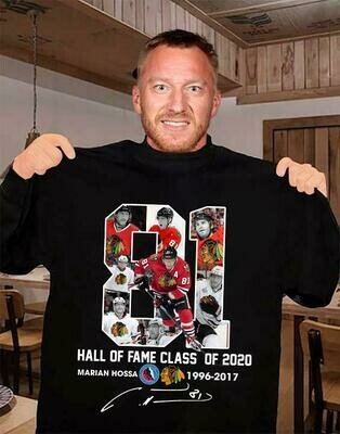 81 hall of fame class of 2020 marian hossa washington redskins 1996 2017 signature shirt