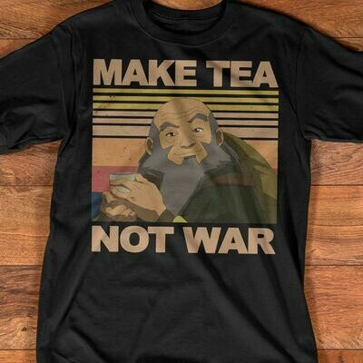 Make Tea Not War Avatar Iroh Vintage Retro Shirt