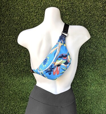 Tropical Jungle Blue Fanny Pack