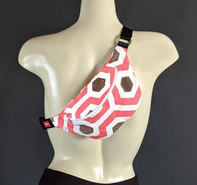 Pink Honeycomb Fanny Pack