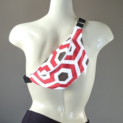 Red Honeycomb Fanny Pack
