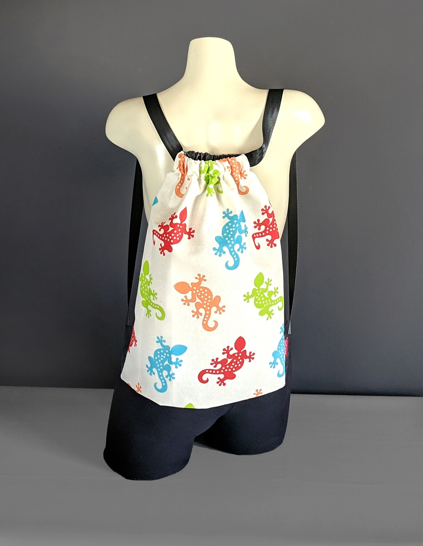 Colorful Gecko Drawstring Bag