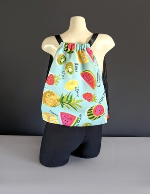 Summer Fruit Drawstring Bag