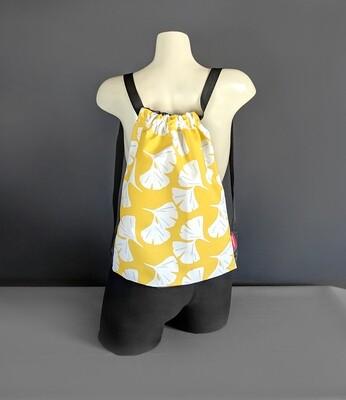 Yellow Hawaiian Drawstring Bag