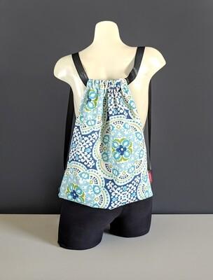 Turkish Blue Drawstring Bag