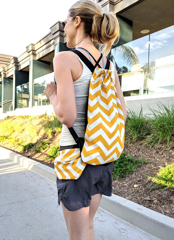 Yellow Chevron Bag Set