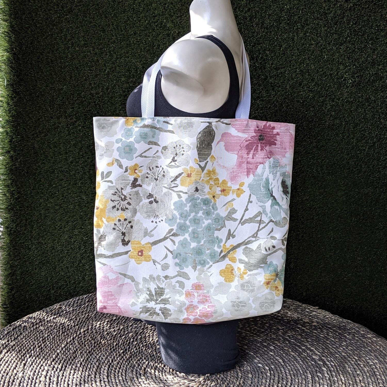 Watercolor Floral Shopper Tote
