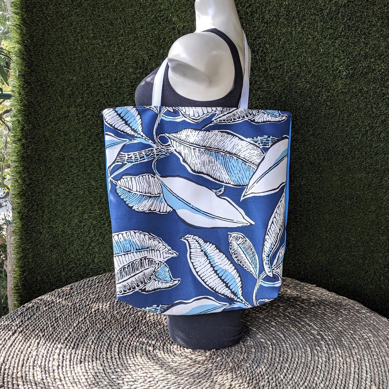 Blue Leaves Shopper Tote