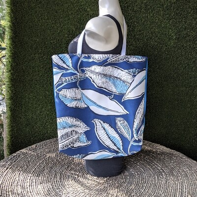 Blue Leaves Shopper Tote