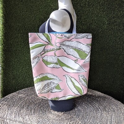 Pink Flowers Shopper Tote