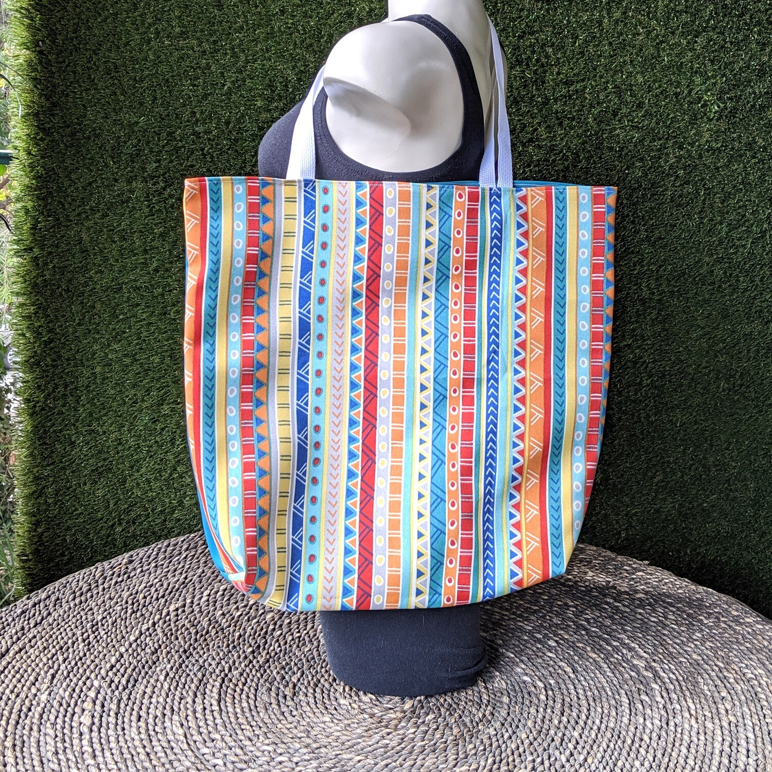 Mexican Fiesta Stripe Shopper Tote