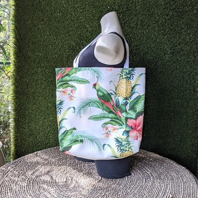 Parrot Pineapple Beach Tote