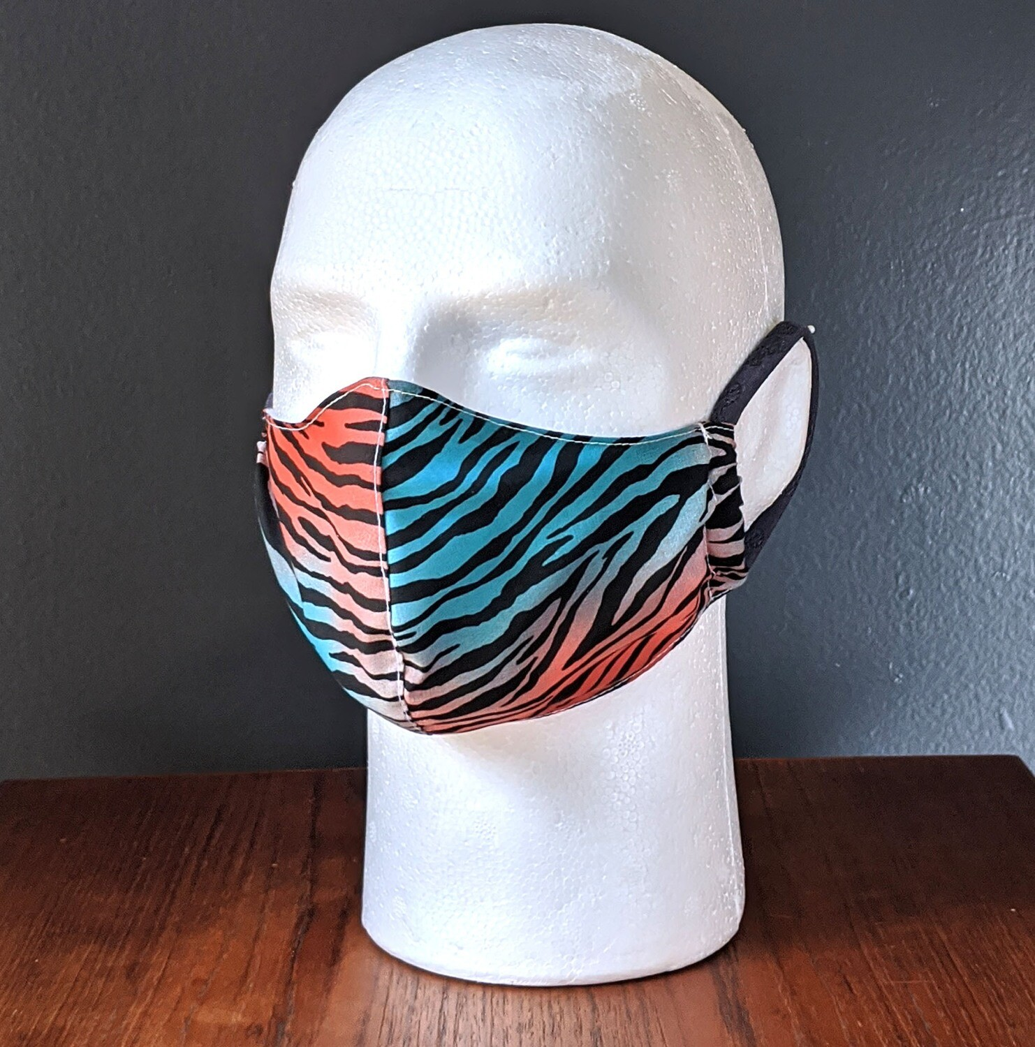 Tiger King Animal Print Face Masks, Small, Unisex, Washable, Reusable, Double Layer for Smog, Pollen, Dust, Smoke. Made in USA