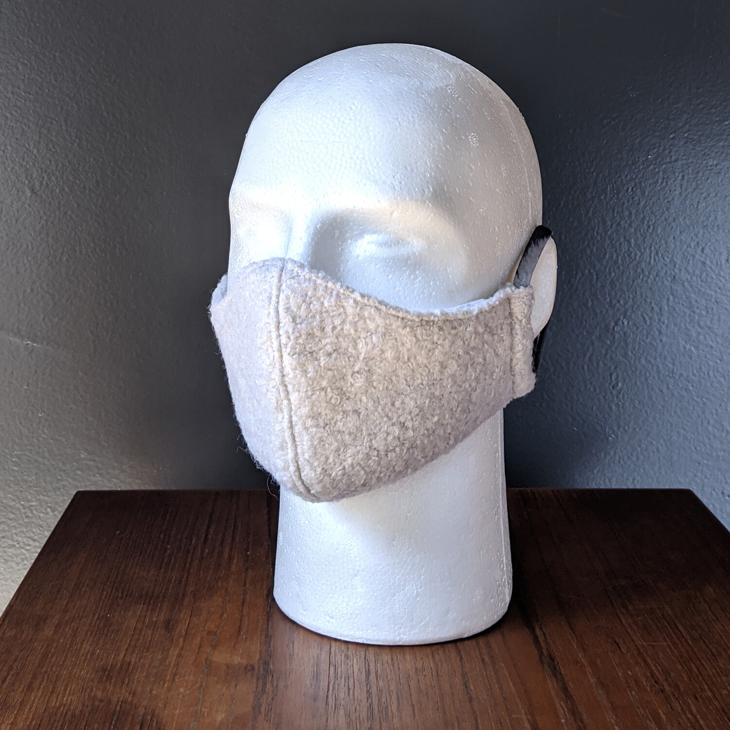 Woolly Sheep Costume Face Mask, Pride, Mardi Gras, Halloween. Small, Unisex, Reusable, Double Layer for Smog, Pollen, Dust, Smoke. Made in USA