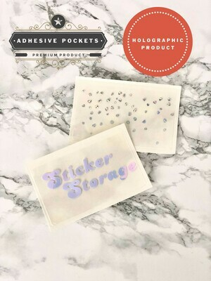 Foiled Holographic Adhesive Planner Sticker Pockets| Functional Bujo B6 TN Erin Condren Happy Planner A5 Recollections
