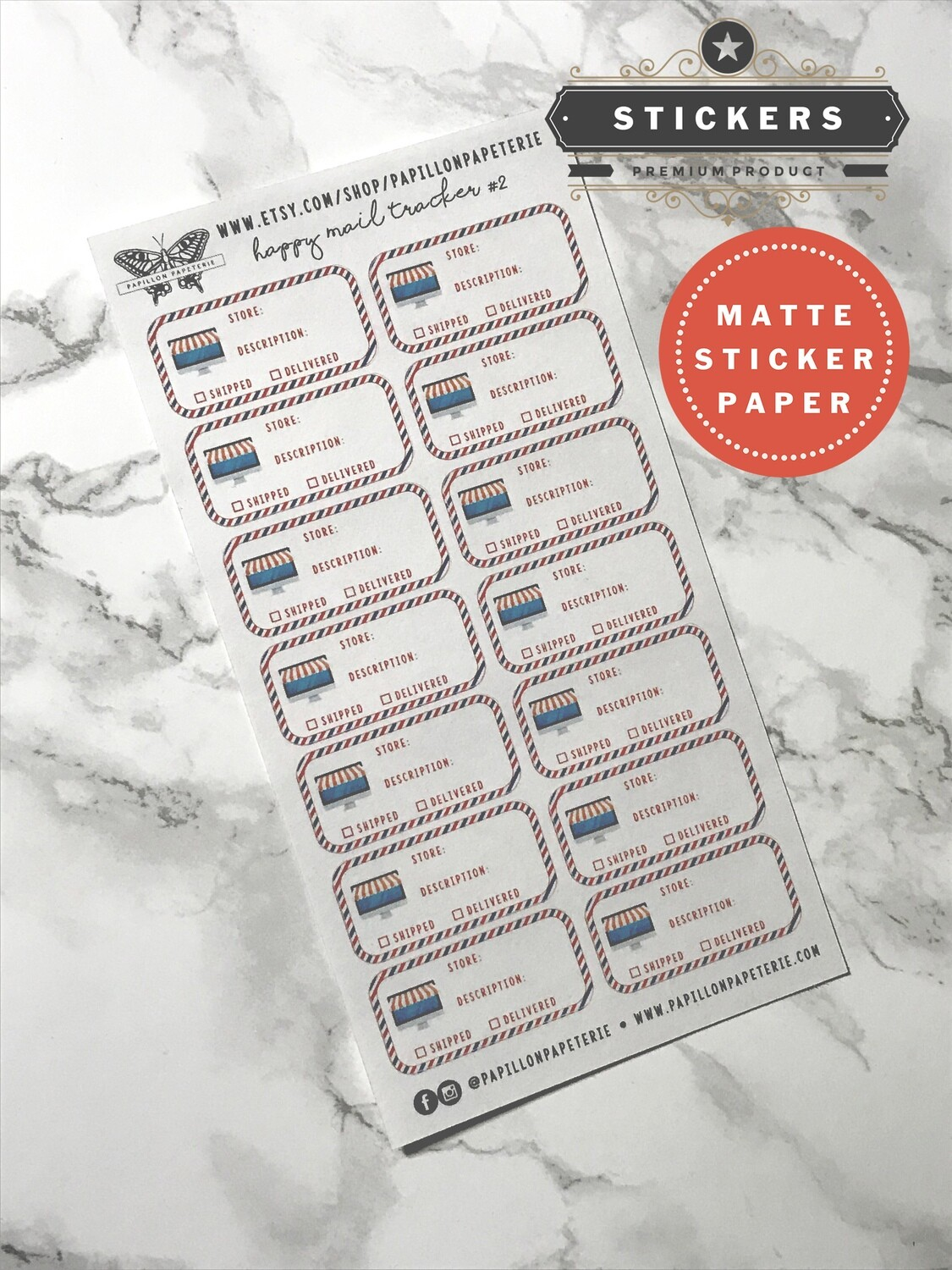 Happy Mail Tracker Sticker Set | Functional Planner Stickers Vertical Happy Planner A5 Recollections