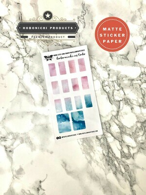 Watercolour A6 Hobonichi Planner Monthly Tabs | Gold Silver Holo Rose Gold Functional Bujo TN A5