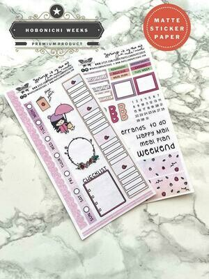 Spring is in the Air Weekly Sticker Kit | Planner stickers for Hobonichi Weeks mika+michi