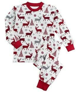 Saras Prints Super Soft Holiday Pajama Set  size 2 and 7
