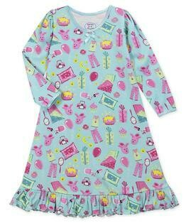 Saras Prints Super Soft Pajama Slumber Party Nightgown