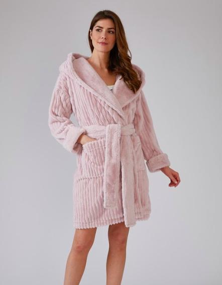 Women's Comfy Cozy Cloud Robe -  Cream or Pink