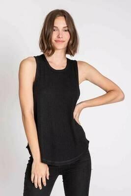 PJ Salvage Black Tank Thermal Shirt - see colors
