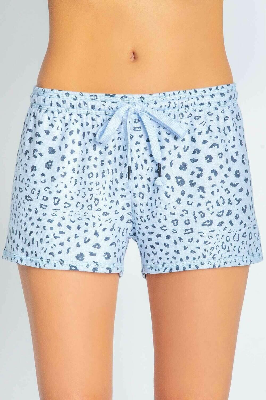 PJ Salvage Womens Blue Leopard Pajama Short  Size L, XL