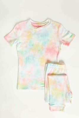 PJ Salvage Spring Pastel Tye Dye Children's Pajama Set Size 2, 3, 4, 5, 6