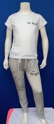 Be Kind Custom Grey Pant-  Unisex-  Size 5/6, 7/8, 10/12, 12/14