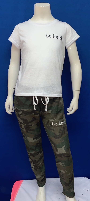 Be Kind Custom Kind Camo Pants-  Unisex-  Size 5/6, 14/16