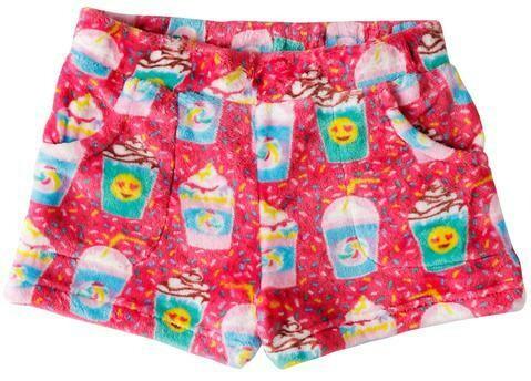 Red Milkshakes Fleece Shorts Size  4/5, 6/6X, 7/8