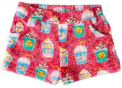 Red Milkshakes Fleece Shorts Size  4/5, 6/6X, 7/8