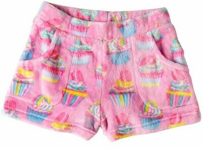 Pink Cupcake Fleece Shorts Size 7/8