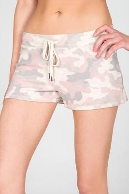 PJ Salvage Pink Camo Draw String Pajama Lounge Short Size XL