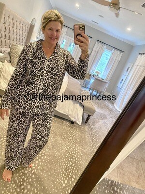 Women's Modal Leopard Pajama Set