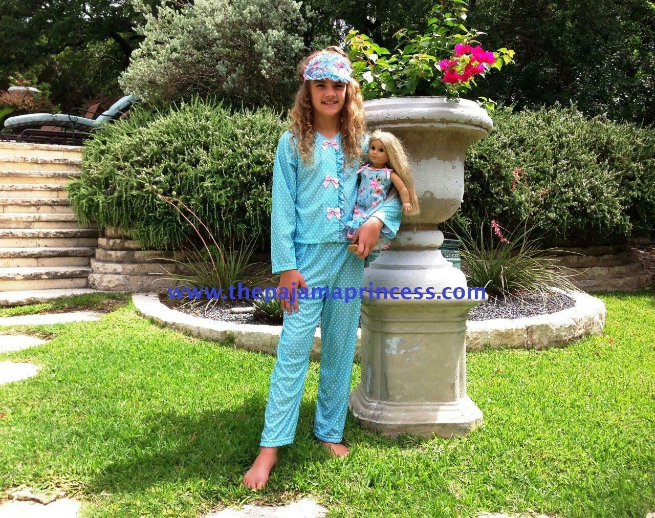 Laura Dare Blue Polka Dot PJ Set    Size 14