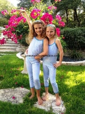 Esme Blue Cheetah PJ Set  Size 2