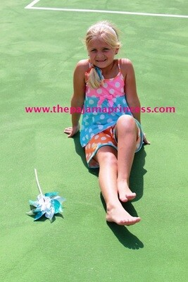 Laura Dare Blue Polka Dot PJ Set  Size 4