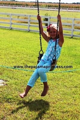 Laura Dare Blue Polka Dot Ruffle PJ Set  Size 3