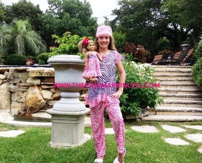 Laura Dare Pinkand Purole Zebra PJ Set  Size 4