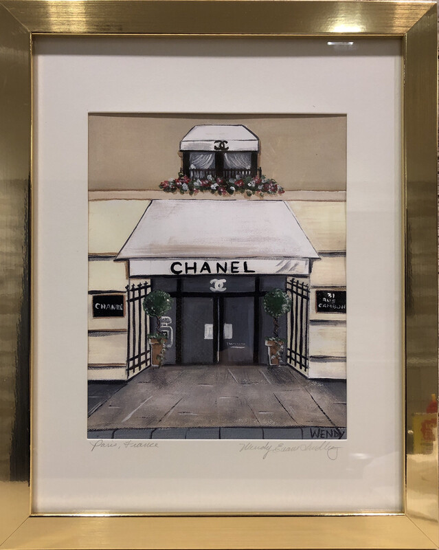 Chanel Paris Store Front Framed  Print