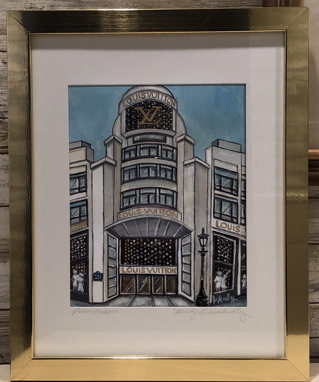 Louis Vuitton Paris Store Front Framed Print