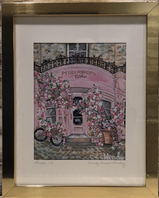 Peggy Porschen London Store Front Framed Print