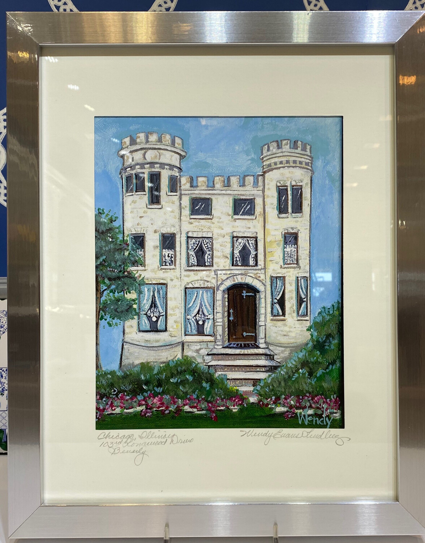 Longwood Drive Castle Framed Print