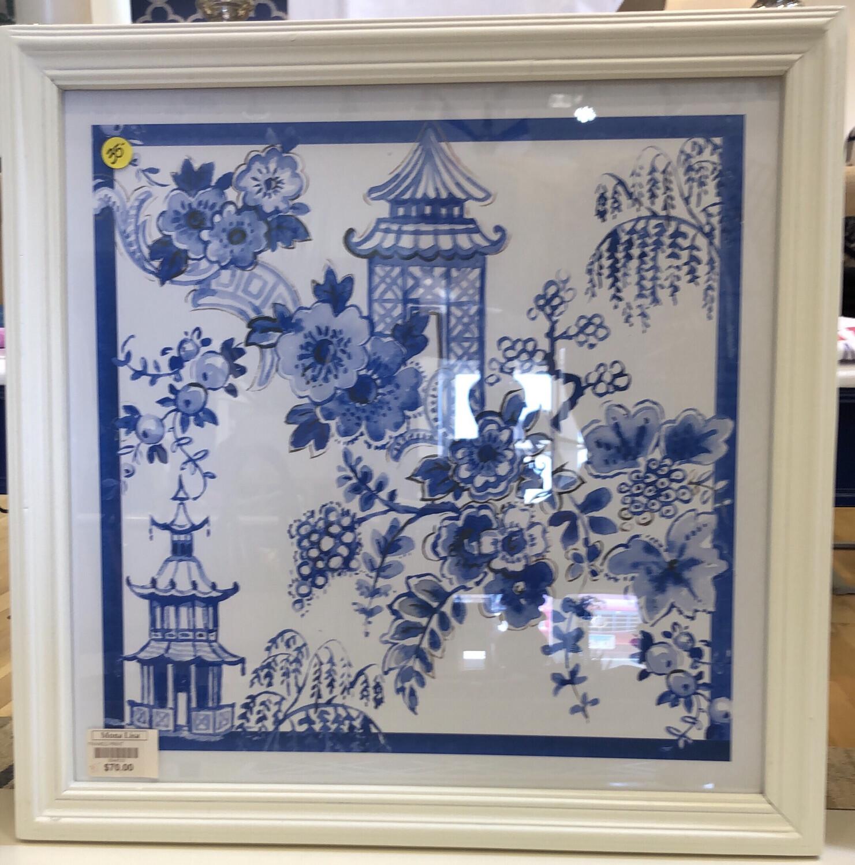 Blue & White Framed Print