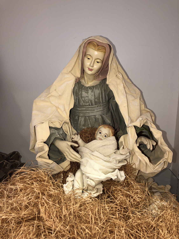 Nativity Cloth Mache 6 Piece Set