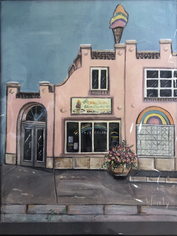 Original Rainbow Cone Store Front Framed Print