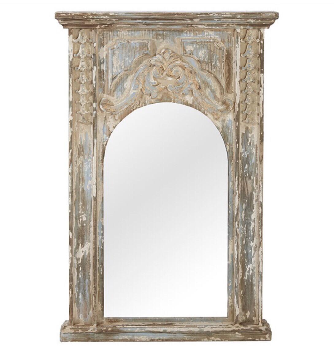 Distressed Paris Market Mirror