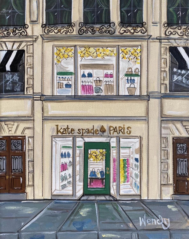 Kate Spade Paris Store Front Framed Print