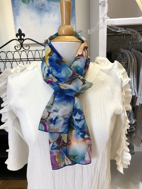 Bright Flowers Oblong Scarf